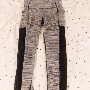 Athleta Leggings with Pockets and Mesh Detailing